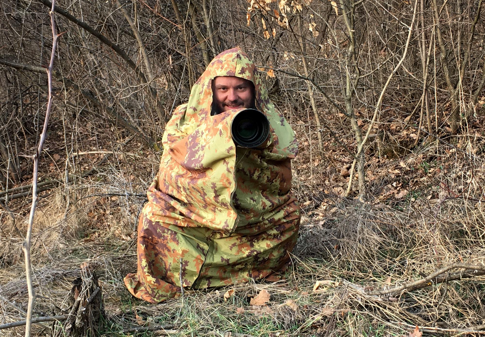 Husa pentru camuflajul in padure